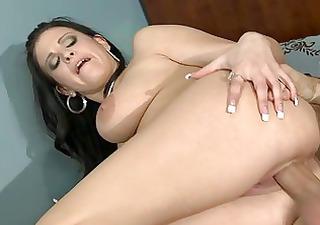 busty brunette milf bonks huge chubby jock