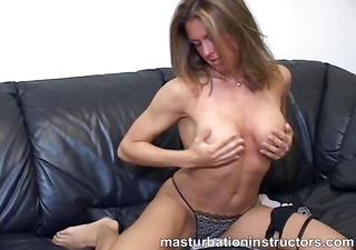 topless jerk off teacher fondles and spreads