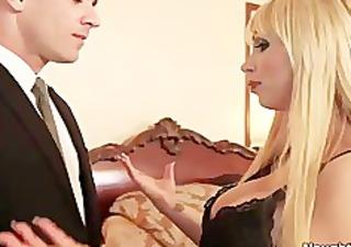 busty golden-haired nikki benz seduces boyfriends