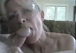 wife and spouse having three-some blowjob fun